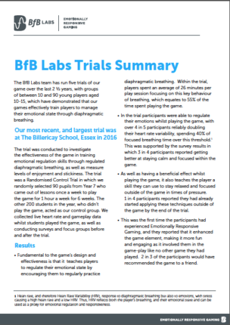 BfB Labs Trials Summary